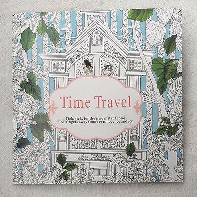 English Children Secret Garden Time Travel Treasure Hunt Coloring Book