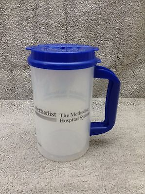Whirley 32oz mug, New with Straw, Straw Cap, and Lid Clear & Blue Methodist