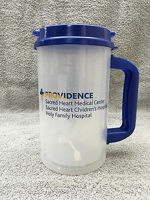 Whirley 32oz mug, New with Straw, Straw Cap, and Lid Clear & Blue Providence