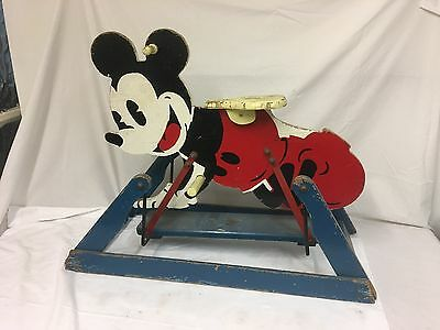 1930's Triang Mickey Mouse Wooden Safety Rocker