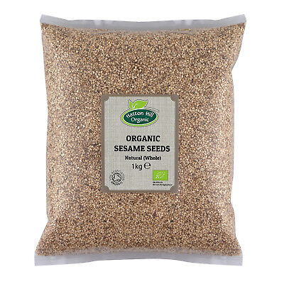 Organic Whole (Natural) Sesame Seeds 1kg Certified Organic