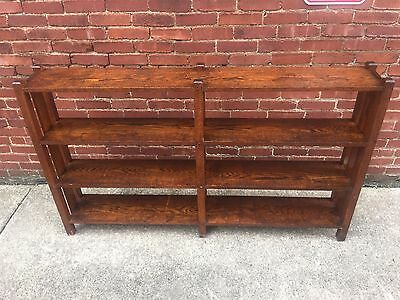 Large Antique Mission Oak Bookcase Bookshelves