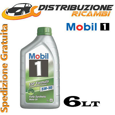 Olio Mobil 1 Esp 5W30 Synthese Technology Longlife 6 Litri