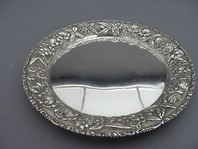 Baltimore Sterling Silver Co Sterling Silver Repousse Salver  8 Inch