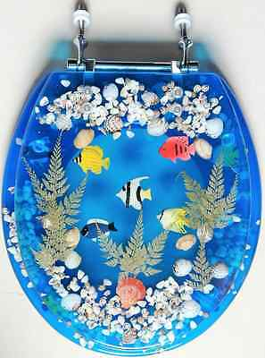 Transparent Fish Aquarium Standard Size Toilet Seat with Cover Acrylic Seats Blu