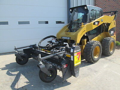 "Paladin Harley 84"" Skid Steer Loader Hydraulic Angle Power Box Rake Attachment"
