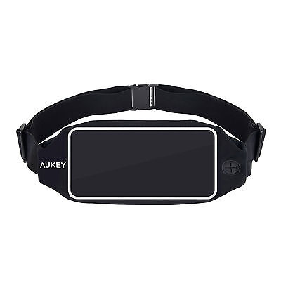 AUKEY Running Elastic Belt Waist Pack Bag Free Your Hand Phone Hold up 5.5 Inch