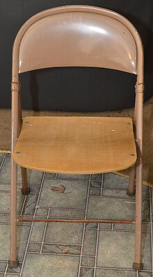 Rare '40-'50s American Seating Co Steel & Wood Folding Industrial~ Church Chair