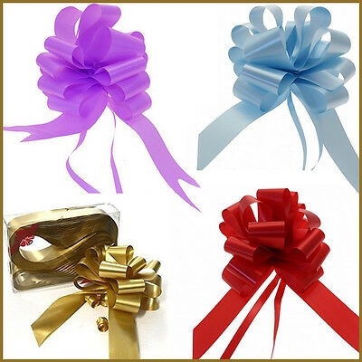 5,10,20 Pull Bow Gift Wrapping/Party/Wedding Decor Wrap Large Ribbon Pew Bows