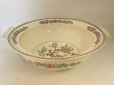 Vintage Alfred Meakin Bengal Tree gold gilted serving bowl
