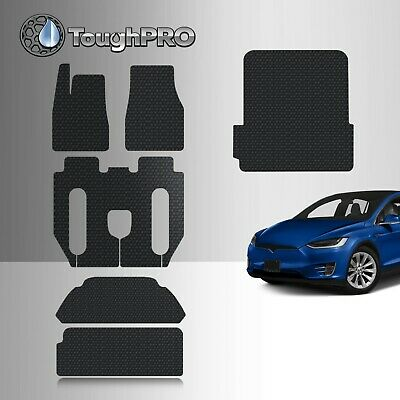 ToughPRO Tesla Model X 6 Seater Without Center Console Floor Mats Full Set 2017