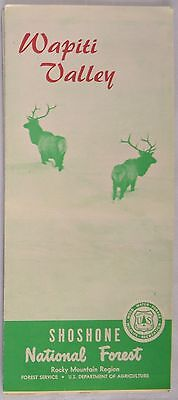 VINTAGE Map Circa 1970 Wapiti Valley Shoshone National Forest Wyoming Unused
