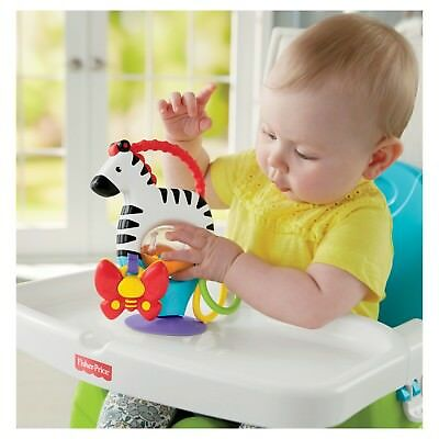 Fisher Price Suction Cup/Stick On Activity Toy for Highchair/High Chair Zebra