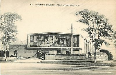A View Of St Joseph's Church, Fort Atkinson Wisconsin WI