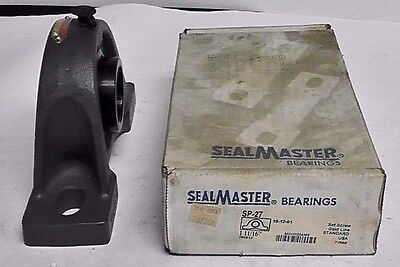 "SealMaster SP-27 Pillow Block Bearing, Bore 1.6875"" Qty: 1"