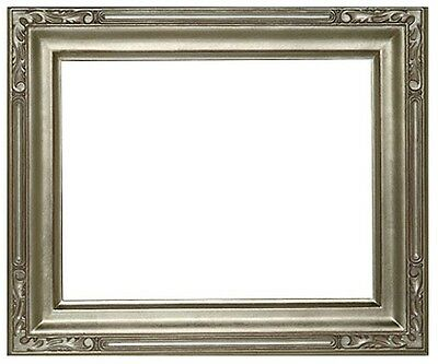 12 x 16 Arts & Crafts Style Picture Frame HandApplied Silver Leaf Beauty