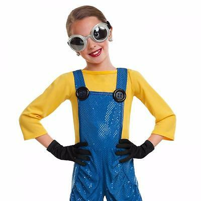 Dance Costume Large Child Minion Overalls Blue Yellow Jazz Tap Solo Competition