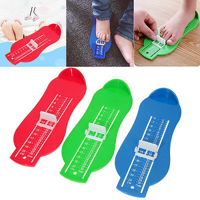 Hot Kids Infant Toddler Baby Foot Measure Gauge Shoe Size Measuring Ruler Tools