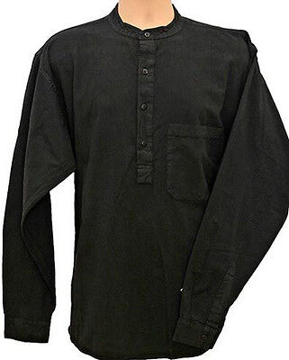 Grandad Shirt Original Collarless Shirt Co. Half /button Classic now in 10 Cols