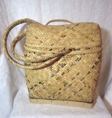 Vintage Ifugao Gathering Basket Backpack,  Great Condition! Beautiful!