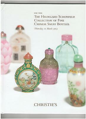 Christie's Chinese Snuff  Bottles Auction Catalog,  New York, March, 2013