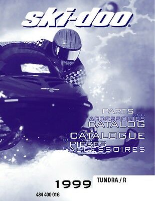 Ski-Doo parts manual catalog book 1999 TUNDRA R & 1999 TUNDRA