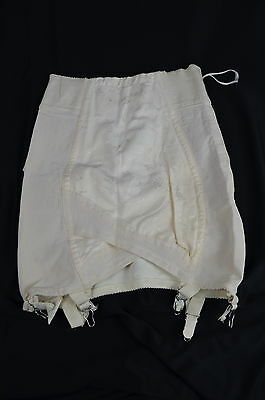 Vintage 1950s SARONG USA Open Bottom Girdle with Garters & Side Zipper