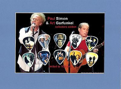 Simon and Garfunkel Matted Picture Guitar Pick Set Paul & Art Sounds Of Silence