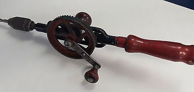 Antique MILLERS FALLS NO. 5 Single Speed Eggbeater Hand Drill SOLD AS IS