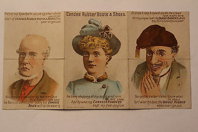 Trade Card CANDEE RUBBER BOOTS & SHOES - Metamorphic c1890