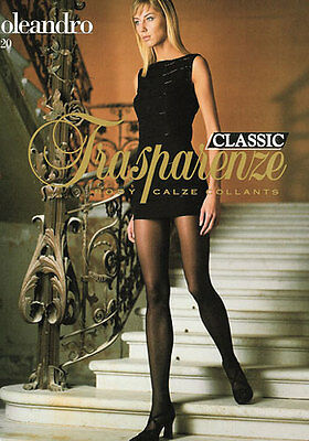 Trasparenze OLEANDRO Classic 20 Den Pantyhose Tights Hosiery Nylons Silky Sheer
