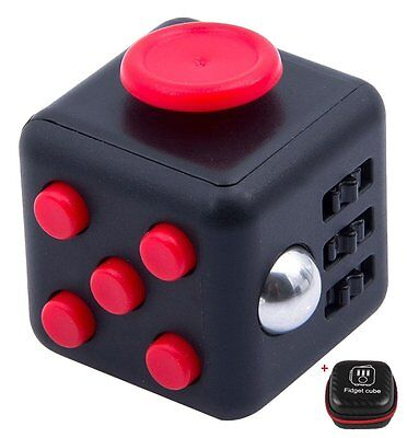 New Fidget Cube Children Vinyl Desk Toy Adults Stress Relief Cube + BONUS CASE