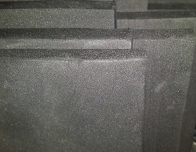 EVA Foam lining for flight cases. Available in Black. 10mm thickness. 1mx2m roll