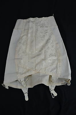 Vintage 1950s SARONG USA Open Bottom Girdle with Garters & Side Zipper ~ 28