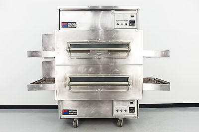 Reconditioned Middleby Marshall PS360 Double Deck Gas Conveyor Pizza Oven