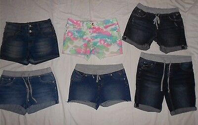 Girls Size 12 1/2 JUSTICE Denim Shorts Lot Plus