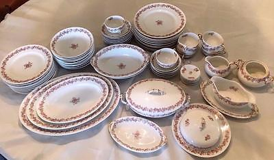Rare Charles Ahrenfeldt Limoges France China Set for 8 ~ Serving Pieces~79 Pcs.