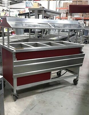 Used Atlas Metal Electric 4 Well Buffet Style Hot Food Serving Counter