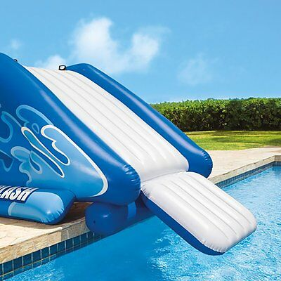 Inflatable Pool Water Slide Splash Kid Play Center Lake Summer Swim Air Pump New