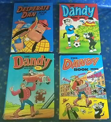 Collection of 4 Dandy annuals 1979, 1984, 1986, 1985  bundle / lot