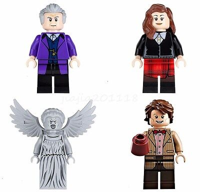 Doctor Who Mini Figures Clara Oswald Eleventh Doctor Weeping Angel Building Toys