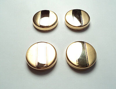 4 Pcs- Gold Plated 17 1/2Mm Button Covers - Bc01
