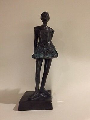 Beautiful small bronze ballerina, in the manner of Degas