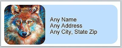 30 Personalized Address Labels Country Wolf  Buy3 get1 free (ac 765)