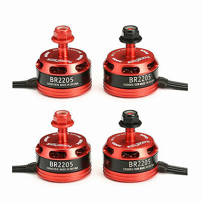 4X Racerstar Racing Edition 2205 BR2205 2300KV 2-4S Brushless Motor 2 CW & 2 CCW