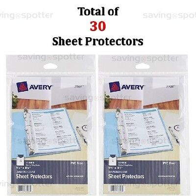2 Packs Avery Sheet Protectors 5.5 x 8.5 Diamond Clear Mini Small Format Binder
