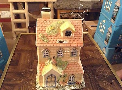 Ceramic house cookie jar