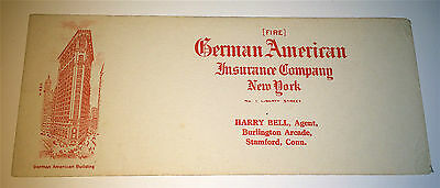 Antique / Vintage (Fire) German American Insurance Advertising Co NY Ink Blotter