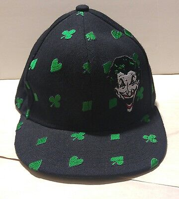 DC Comics The Joker Classic Version Fitted Hat Cap OSFA  All Over Card Suits