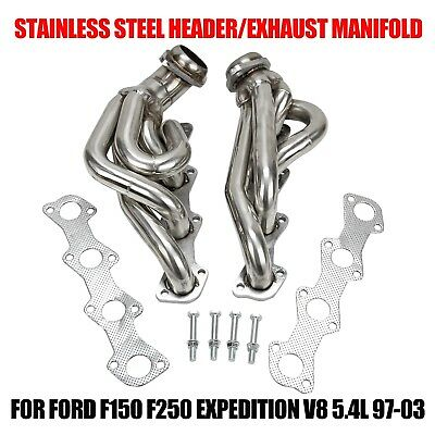 For Ford  F150 F250 Expedition V8 5.4 Stainless Header/exhaust Manifold